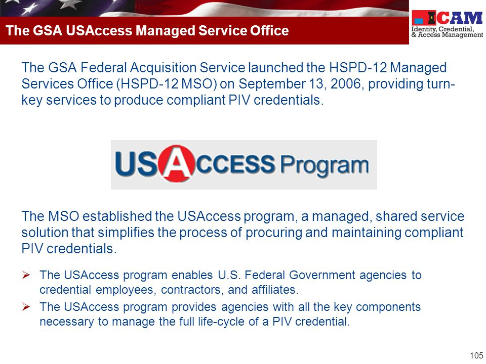 The GSA USAccess Managed Service Office