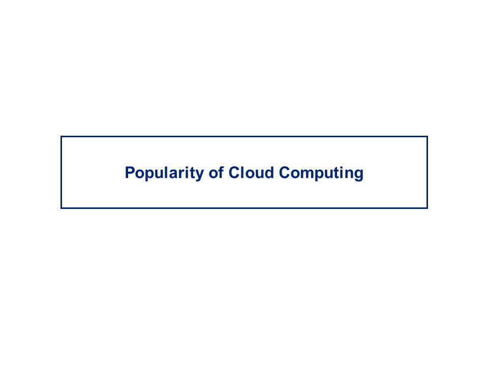 Popularity of Cloud Computing