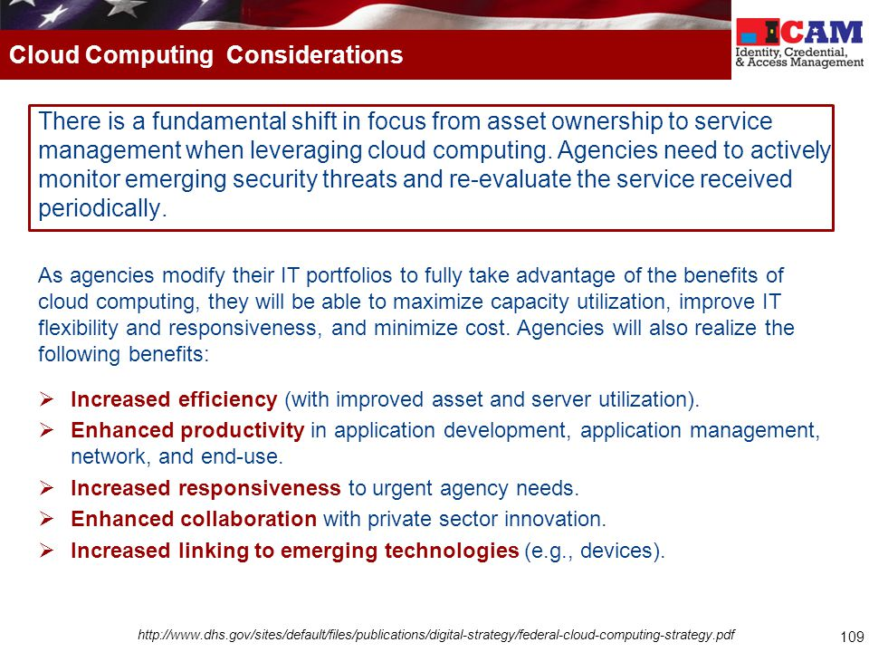 Cloud Computing Considerations