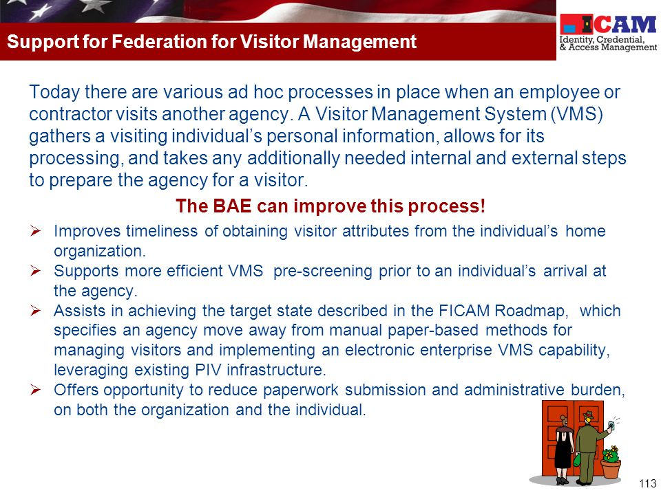 Support for Federation for Visitor Management