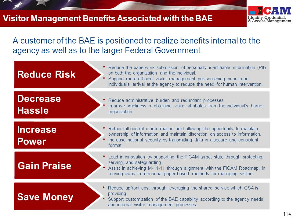 Visitor Management Benefits Associated with the BAE