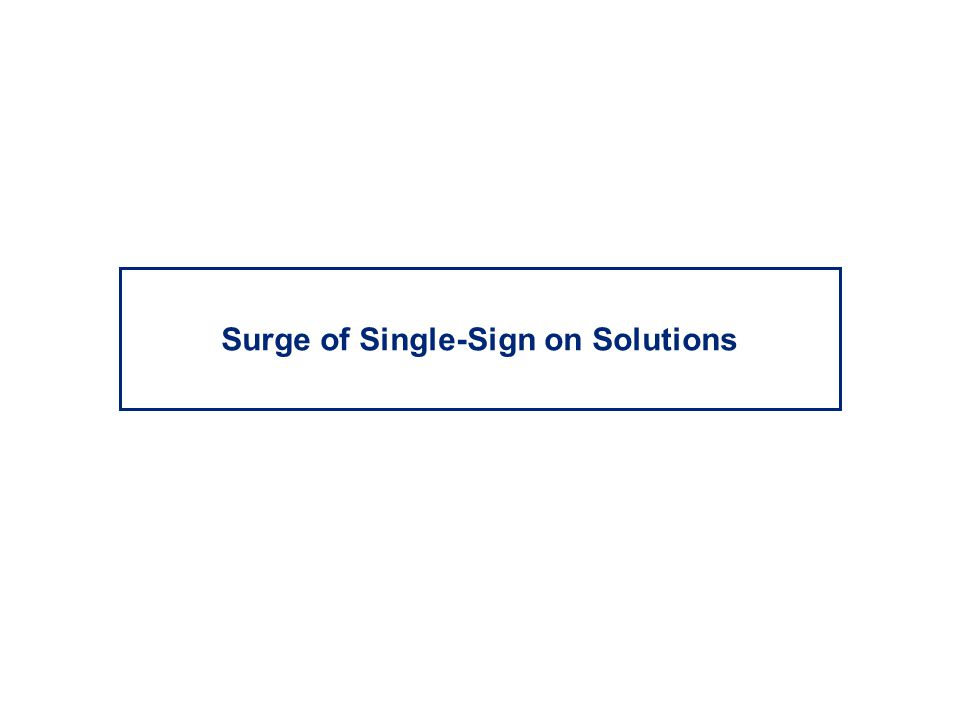 Surge of Single-Sign on Solutions