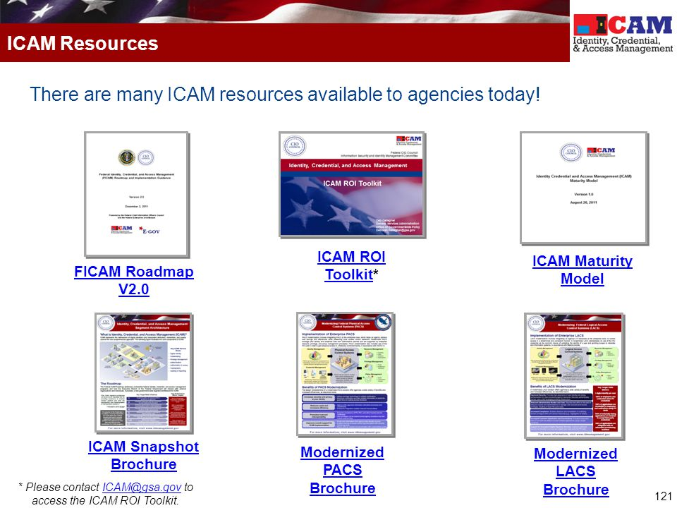 There are many ICAM resources available to agencies today!