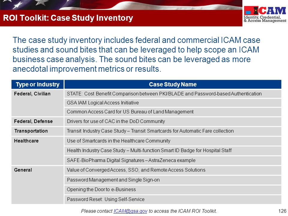 ROI Toolkit: Case Study Inventory