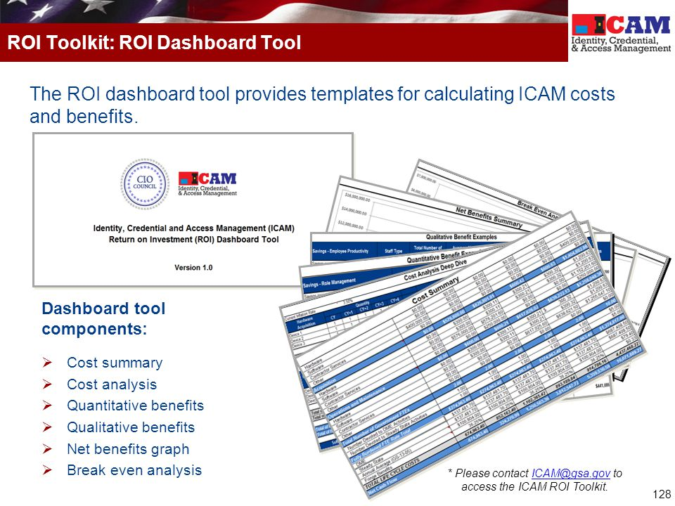 ROI Toolkit: ROI Dashboard Tool
