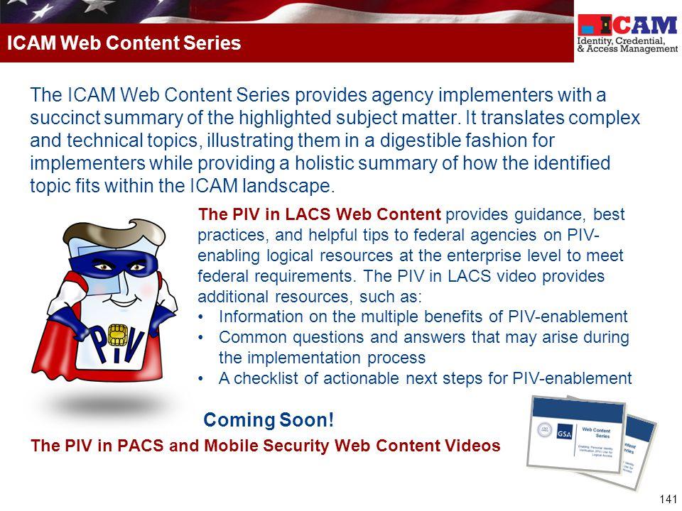 ICAM Web Content Series
