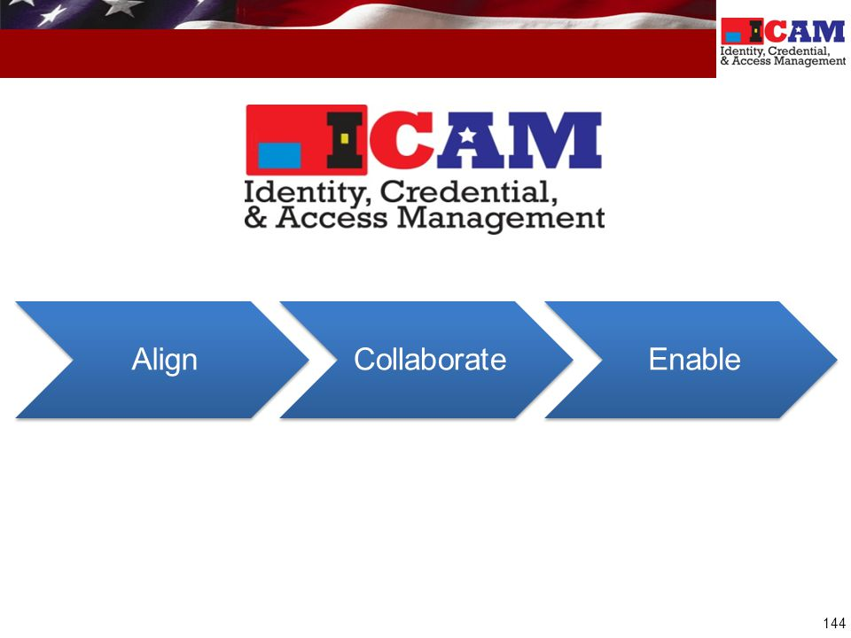 Align Collaborate Enable ICAM Mission