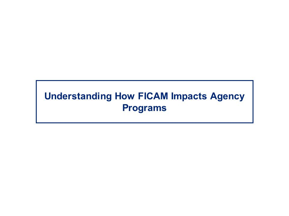 Understanding How FICAM Impacts Agency Programs