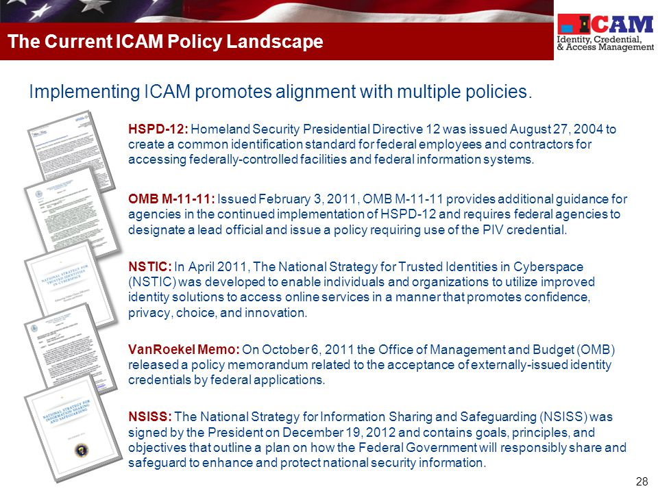 The Current ICAM Policy Landscape