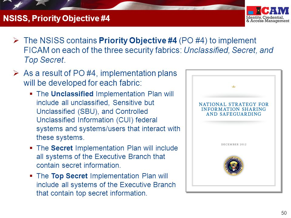 NSISS, Priority Objective #4