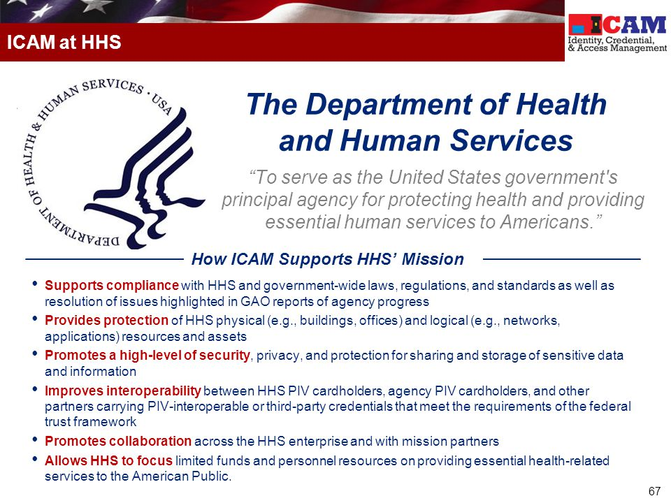 The Department of Health and Human Services