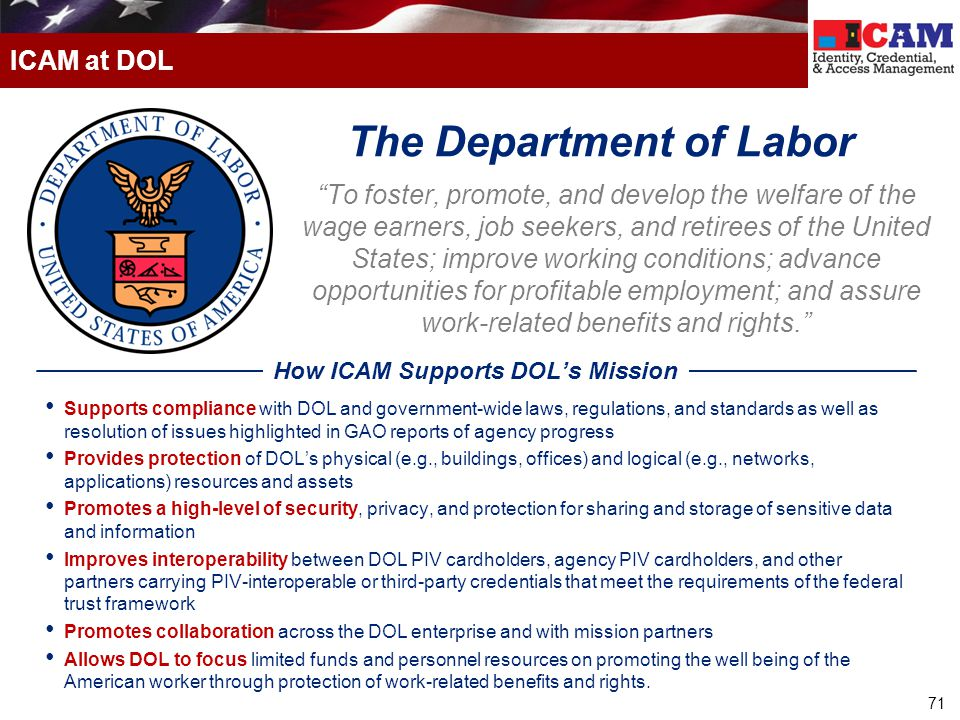 The Department of Labor