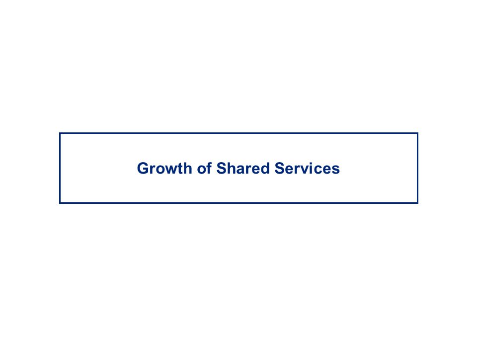 Growth of Shared Services