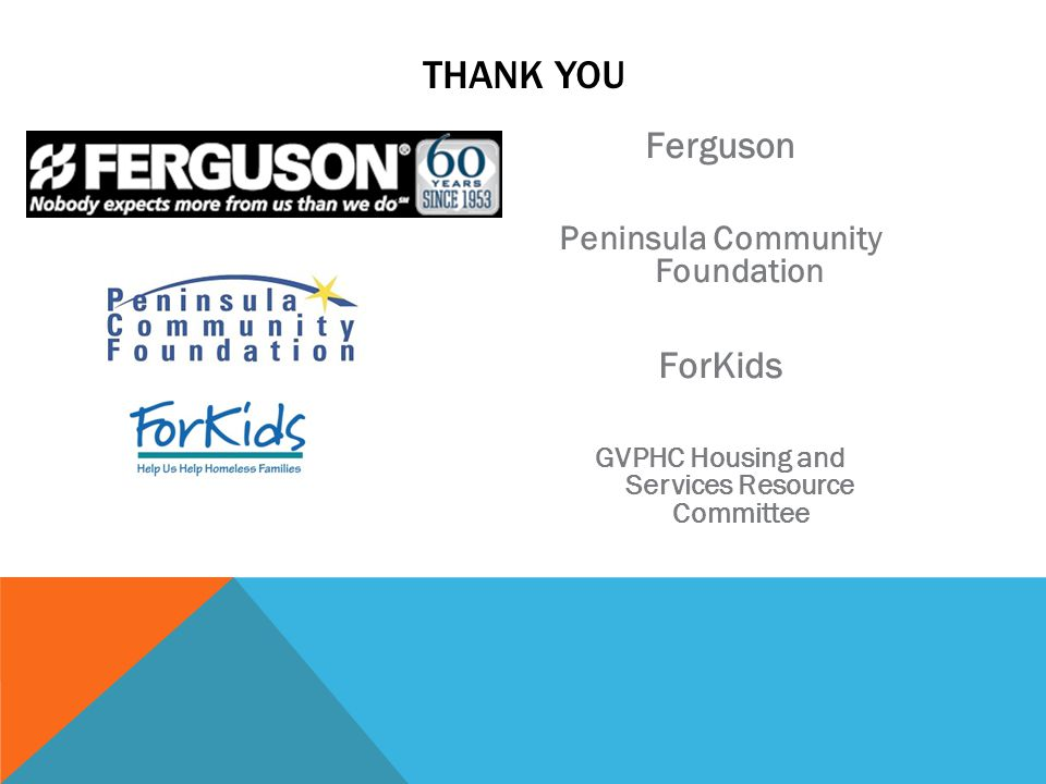 THANK YOU Ferguson ForKids Peninsula Community Foundation