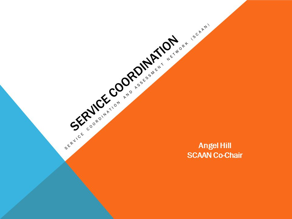 Service Coordination Angel Hill SCAAN Co-Chair