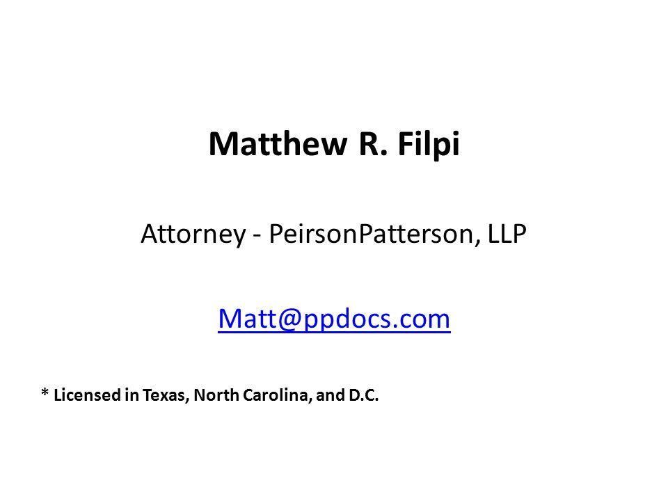 Attorney - PeirsonPatterson, LLP