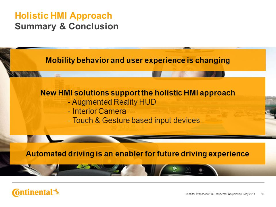 Holistic HMI Approach Summary & Conclusion
