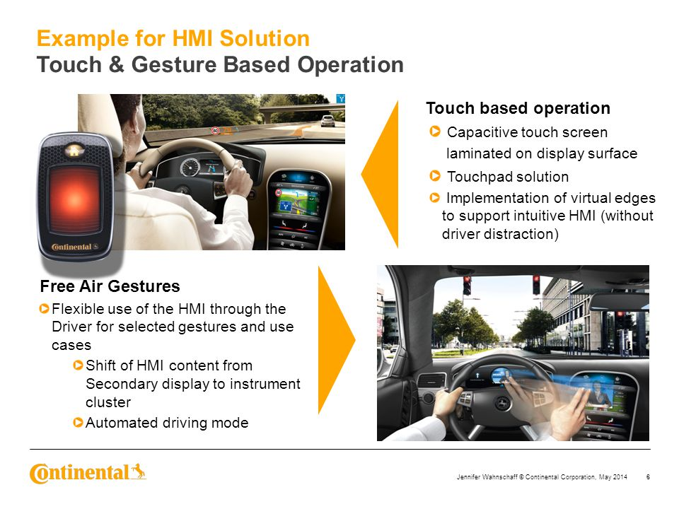 Example for HMI Solution Touch & Gesture Based Operation