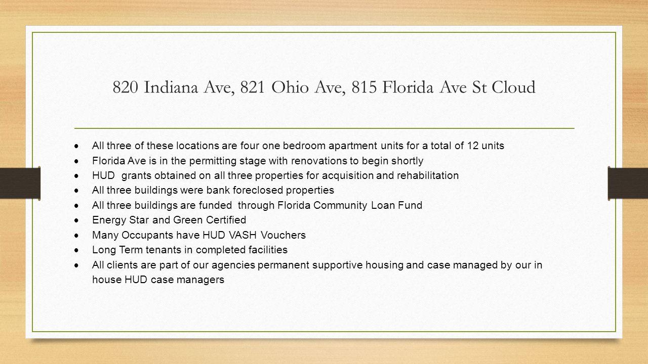 820 Indiana Ave, 821 Ohio Ave, 815 Florida Ave St Cloud