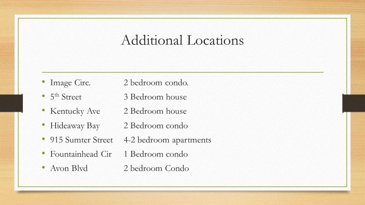Additional Locations Image Circ. 2 bedroom condo.