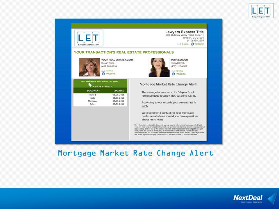Mortgage Market Rate Change Alert