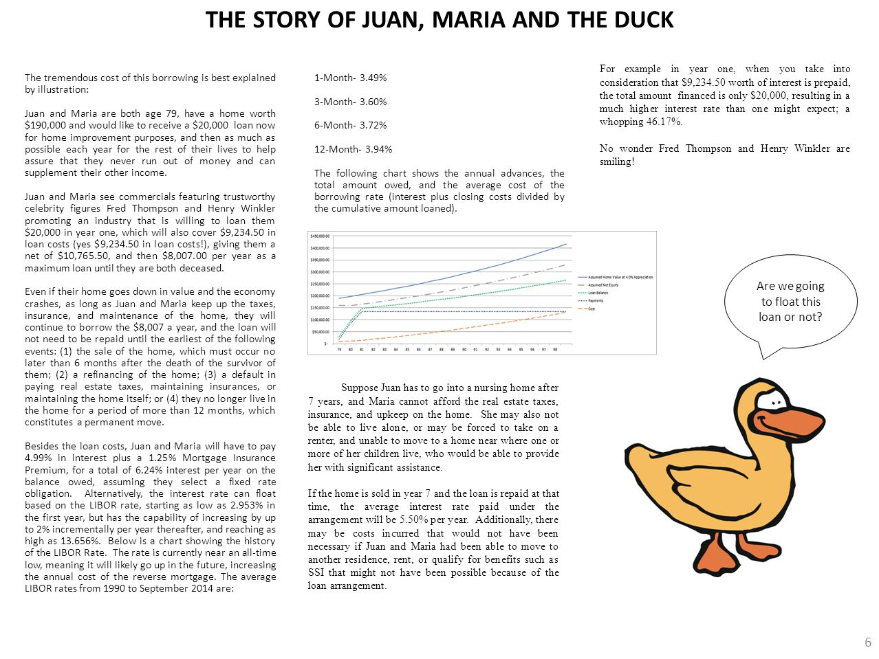 THE STORY OF JUAN, MARIA AND THE DUCK