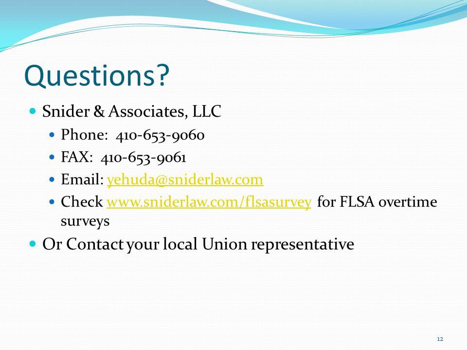 Questions Snider & Associates, LLC