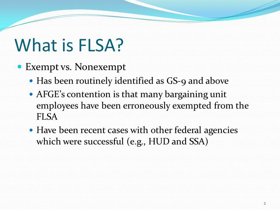 What is FLSA Exempt vs. Nonexempt