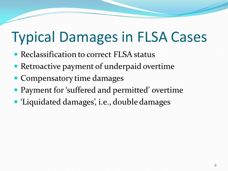 Typical Damages in FLSA Cases