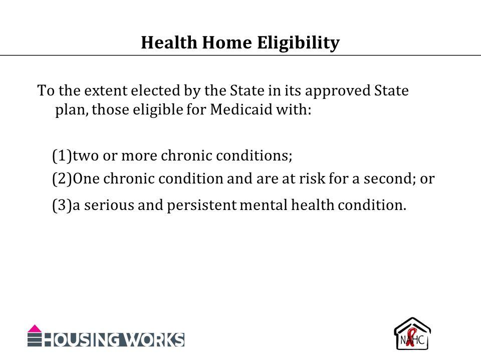 Health Home Eligibility