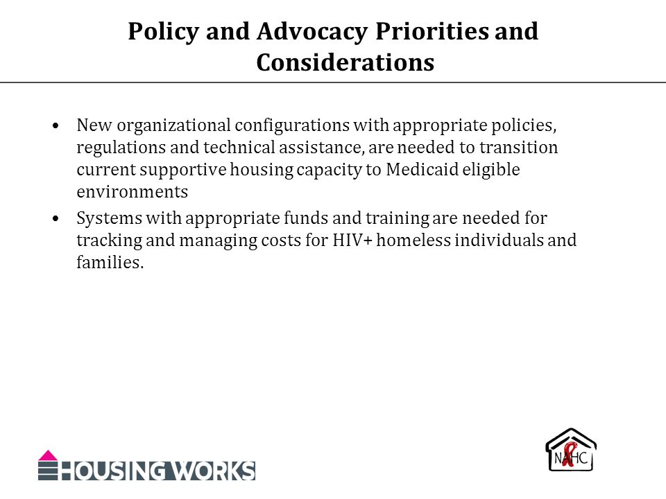 Policy and Advocacy Priorities and Considerations