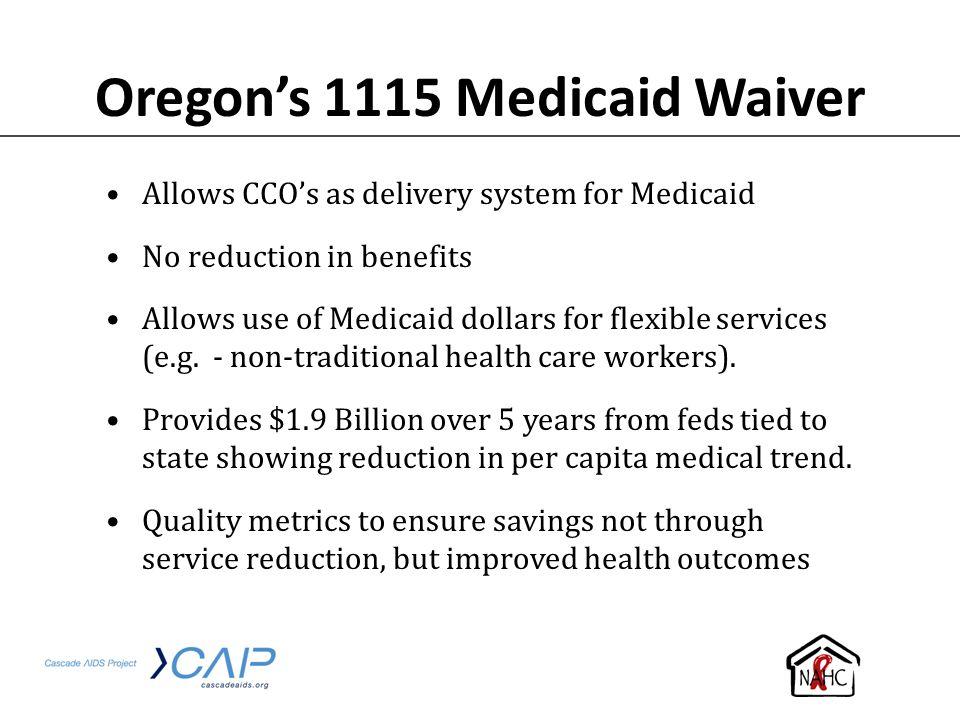 Oregon's 1115 Medicaid Waiver