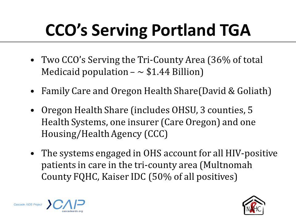 CCO's Serving Portland TGA