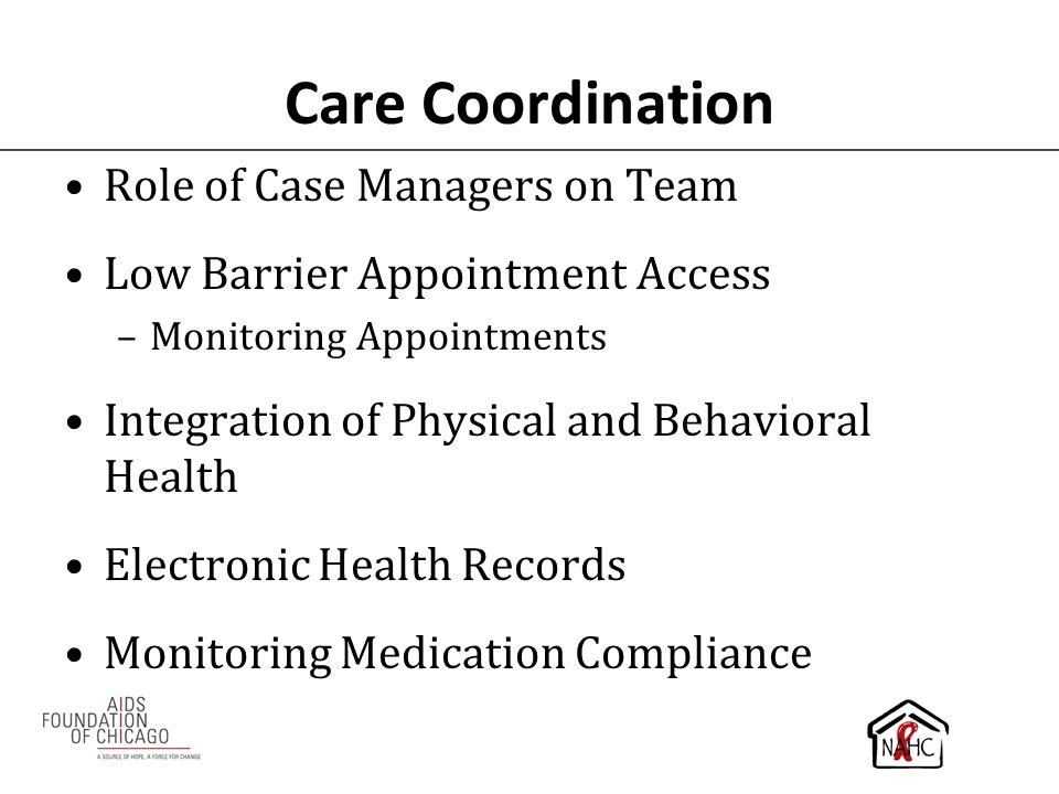 Care Coordination Role of Case Managers on Team