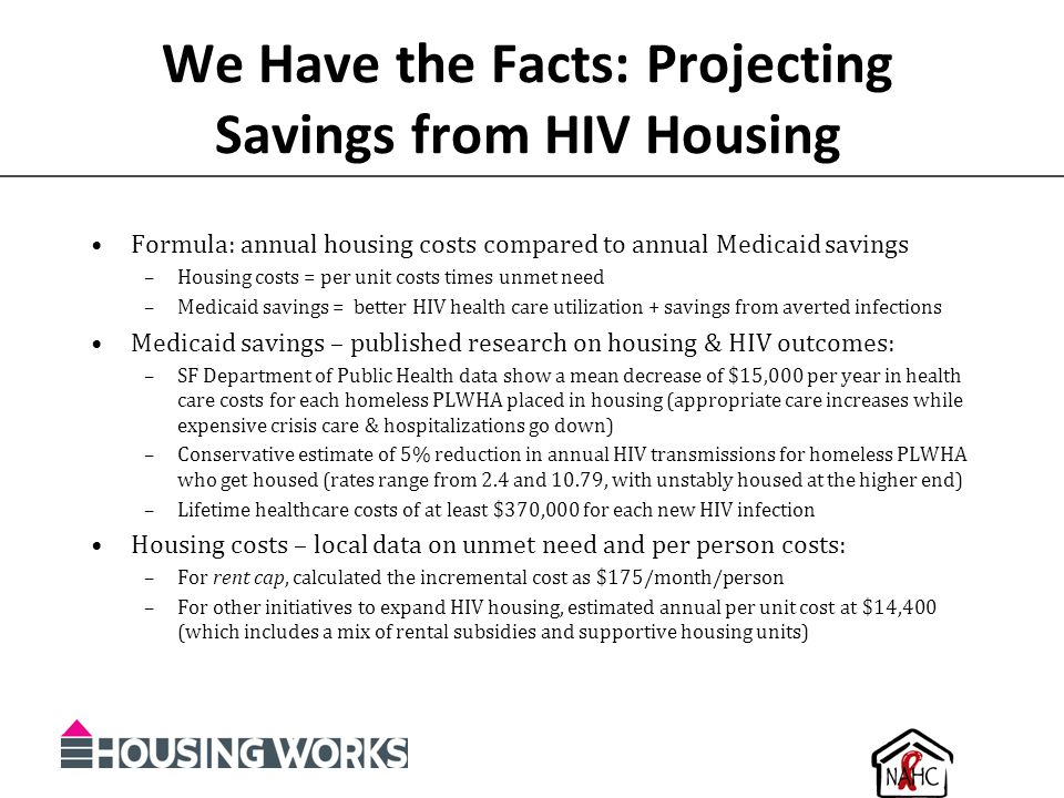 We Have the Facts: Projecting Savings from HIV Housing