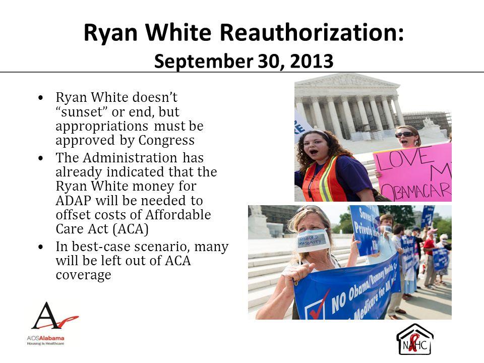 Ryan White Reauthorization: September 30, 2013