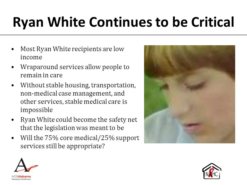 Ryan White Continues to be Critical