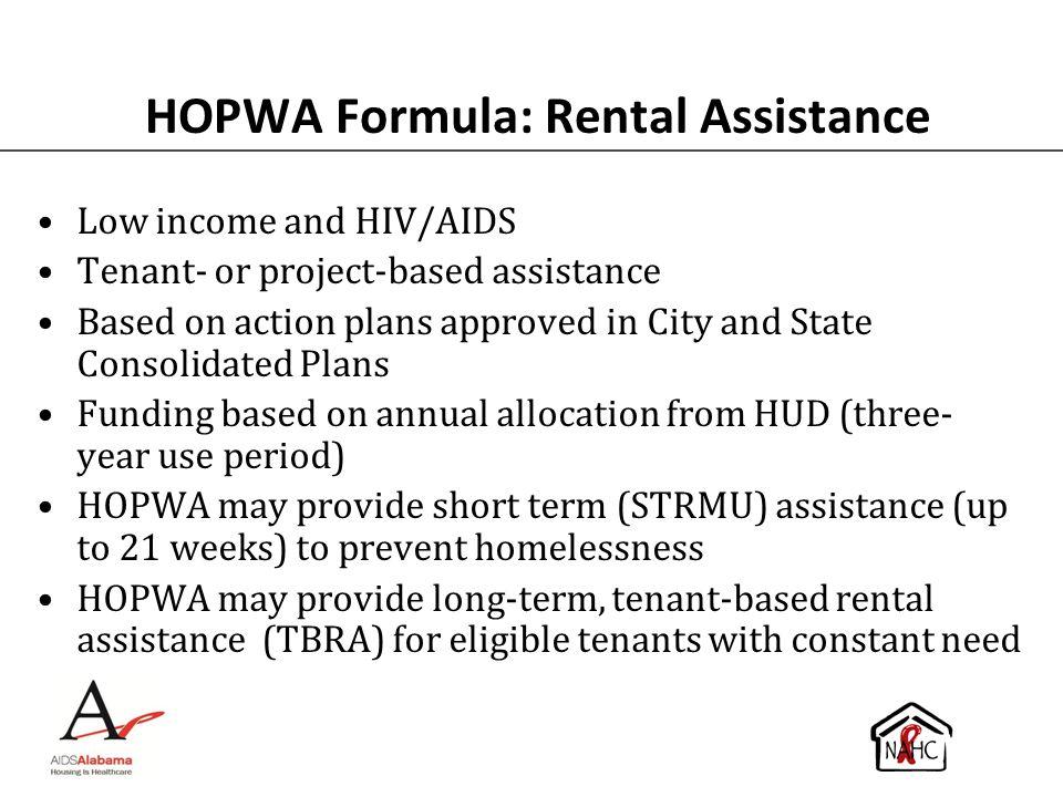 HOPWA Formula: Rental Assistance