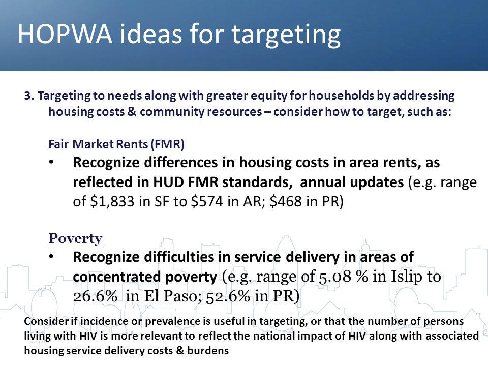 HOPWA ideas for targeting