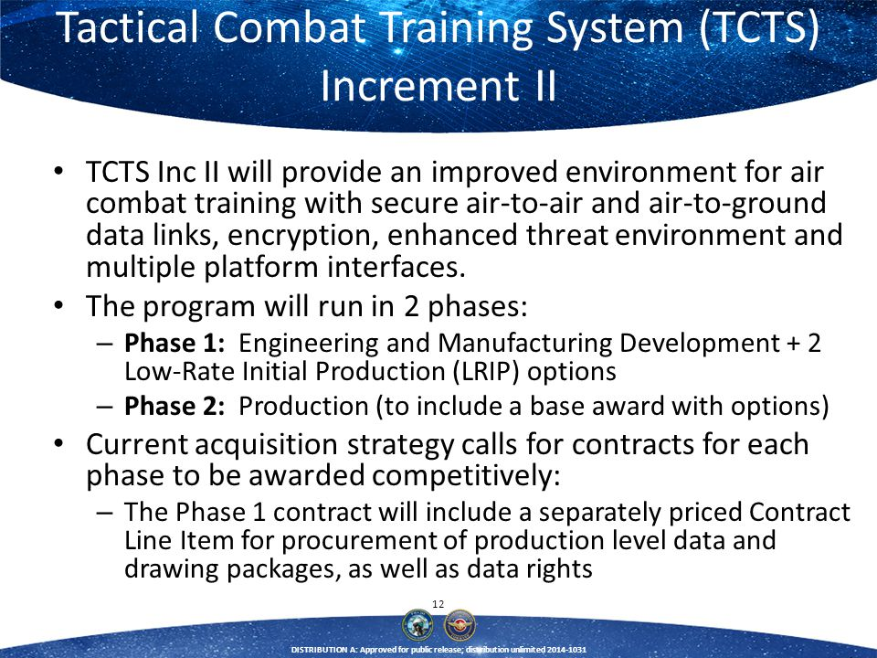 Tactical Combat Training System (TCTS) Increment II