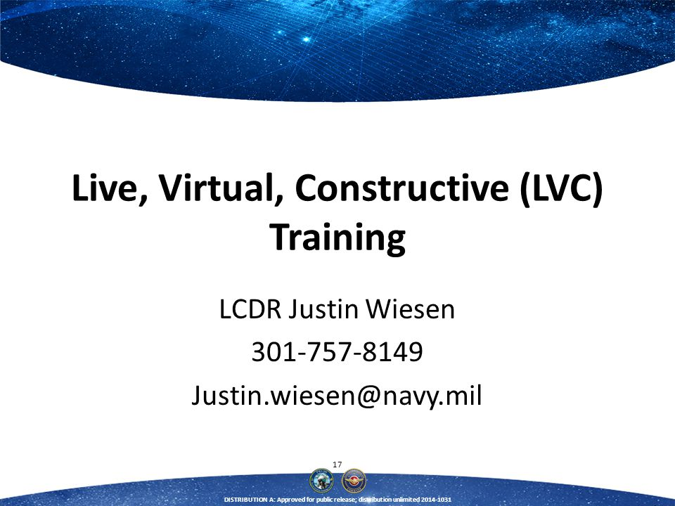 Live, Virtual, Constructive (LVC) Training