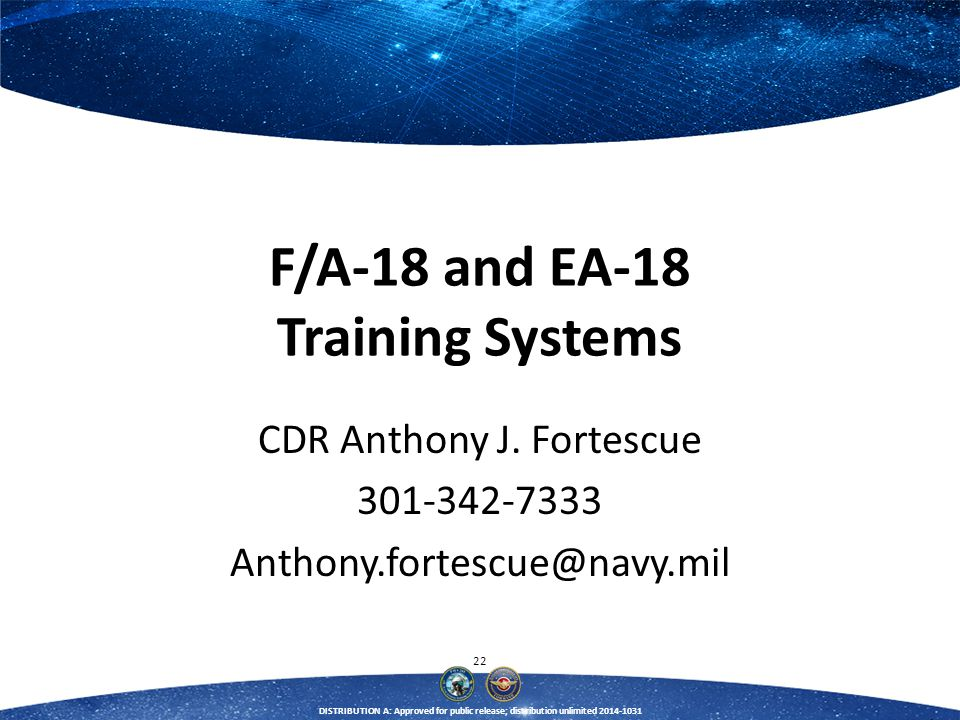F/A-18 and EA-18 Training Systems