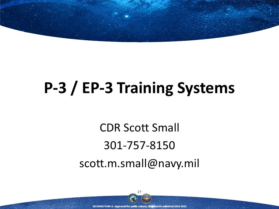 P-3 / EP-3 Training Systems