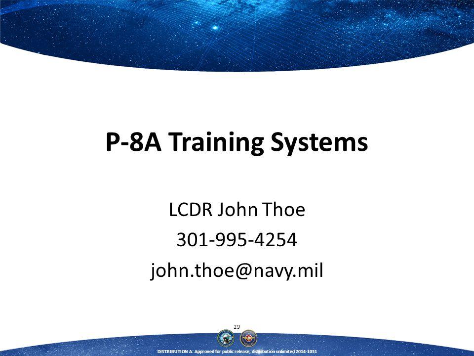 LCDR John Thoe 301-995-4254 john.thoe@navy.mil