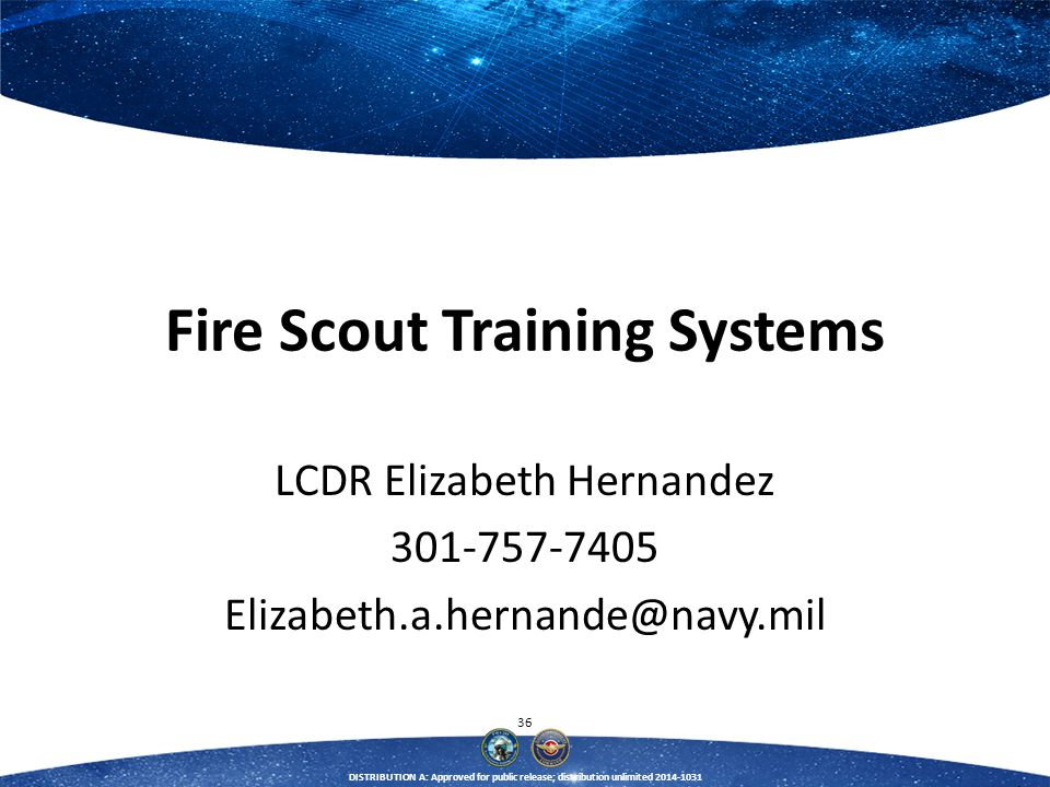 Fire Scout Training Systems