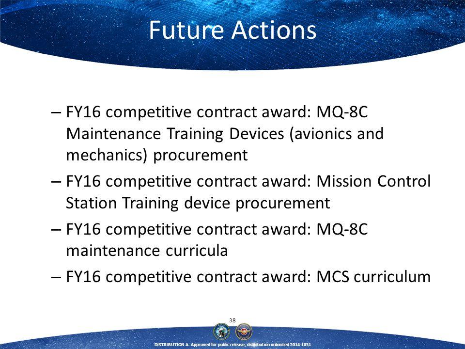 Future Actions FY16 competitive contract award: MQ-8C Maintenance Training Devices (avionics and mechanics) procurement.