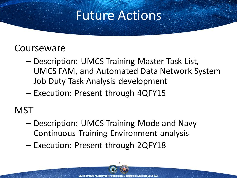 Future Actions Courseware MST