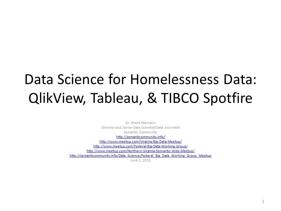 Director and Senior Data Scientist/Data Journalist