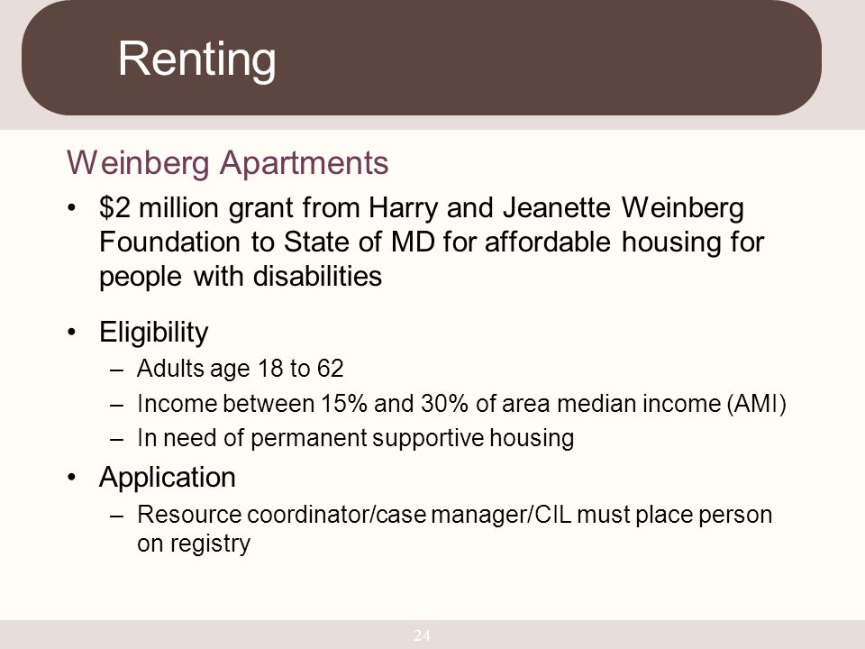 Renting Weinberg Apartments