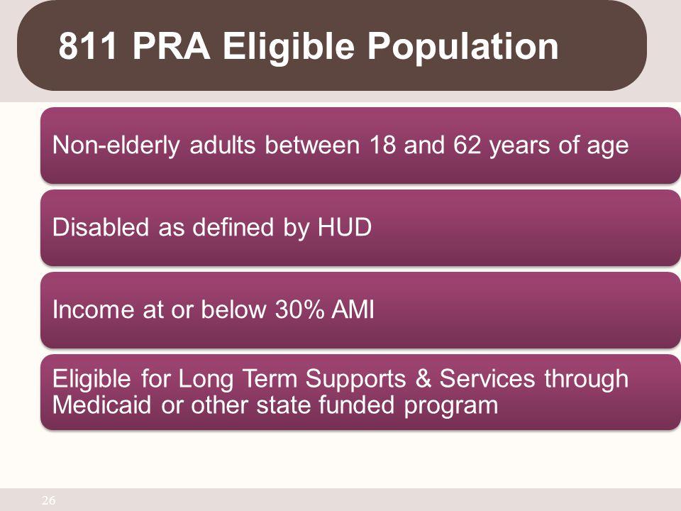 811 PRA Eligible Population